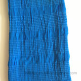 De duidelijke Sjaal/de Sjaal van de Viscose van de Kreuk van de Kleur Natuurlijke met Spandex (HWBS030)