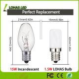 S6 LED夜電球1.5W静かに白くか暖かい白3000k