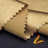 Il tessuto elastico del cuoio del rivestimento dell'unità di elaborazione della base del poliestere per cuoio ansima il rivestimento (FZ-1-VEN-LS)
