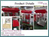 Machine industrielle de maïs éclaté d'acier inoxydable de qualité complète avec le chariot et la bouilloire 8-Ounce