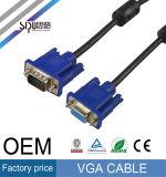 Женщина 15pin Sipu высокоскоростная к мыжскому кабелю VGA