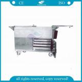 Carro médico vendedor caliente del instrumento del hospital de AG-Ss035c para la venta