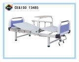 (A-96) Cama de hospital manual Double-Function con la cena de la placa
