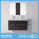 Mdf-hoher Grad-Doppelt-Bassin-Badezimmer-Eitelkeit mit 2 Türen und 2 Fächern (BF376D)