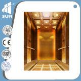 com elevador do passageiro do aço inoxidável da linha fina do quarto da máquina