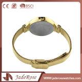 Quartz précis de femmes de montre d'acier inoxydable de mode avec le logo personnalisé