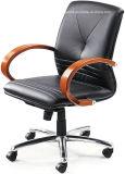 나무로 되는 기본적인 의자는 무장한다 합성 가죽 사무실 의자 (HX-OR004A)를