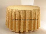 Tissu rond de Tableau de damassé de polyester de décoration de luxe en gros