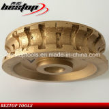 Roda de perfil segmentado de diamante D150mm para pedra de granito