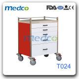 鋼鉄病院の看護のカート、Ce& ISOの緊急のトロリー