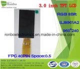 3.0 экран дюйма 960*240 RGB TFT LCD, Ili8961A2, 40pin с экраном касания варианта