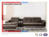 L字型リクライニングチェアの革居間のソファー(TG-8098)