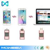 3 em 1 movimentação do flash do USB de OTG para a movimentação da pena do iPhone