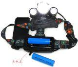 lo zoom del CREE LED di 10W Xm-L T6 registra il faro addebitabile ricaricabile di caccia