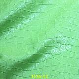 Ткань обувной кожи Faux PU крокодила способа для собраний обуви