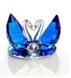 Cisne cristalino para el regalo de las tarjetas del día de San Valentín del regalo de la Navidad
