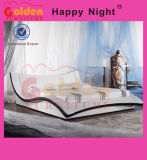 Eichen-festes Holz mit ledernen Pferdeschlitten-Bett-Möbeln China G934