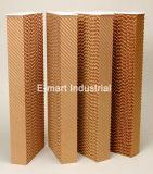 Mur de garniture de refroidissement par évaporation de nid d'abeilles pour la volaille