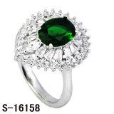 De Saffier CZ van de Juwelen van de manier belt de Zilveren Ring van Cocktail 925
