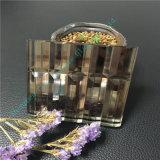 Vidrio modificado para requisitos particulares del vidrio laminado/arte de Brown con el espejo para la decoración