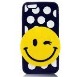 Het vervangbare Gele Geval van de Telefoon van het Silicone van de Glimlach Cellulaire