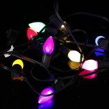 Ampoule de Noël de la lumière RVB DEL C7 de chaîne de caractères de l'éclairage DEL de vacances
