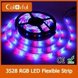Decoración que enciende la luz de tira flexible impermeable de DC12V SMD3528 LED