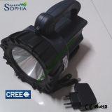 Alta linterna táctica del CREE LED del lumen 10W con el soporte del eslabón giratorio