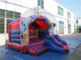 Дешевый раздувной хвастун, дом прыжока детей с скольжением комбинированным