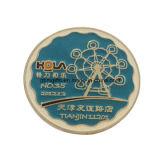 Pièces de monnaie collectables d'honneur rond en laiton avec le bord spécial