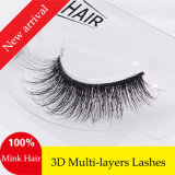 Neue Arrival Fashion False Wimpern der Wimper-3D Multy-Layers Real Mink Hair