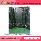Afficheur LED P4.8 d'intérieur avec le Module d'aluminium de location de 500mmx500mm