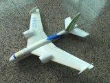 Hand, die PPE-Schaumgummi-materielles Spielzeug-Segelflugzeug wirft