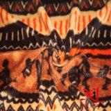 Tejido de franela suave para prendas infantiles con impresión animal