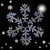 مركز تجاريّ كبيرة عيد ميلاد المسيح [لد] أضواء زخرفة مع كسفة ثلجيّة تصميم