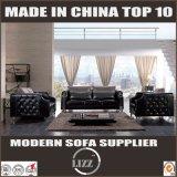 O sofá de couro do sofá da sala de visitas ajustou a mobília do luxo de 1+2+3 Italy