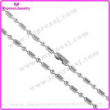 De zilveren Ketting van het Roestvrij staal van de Ketting van de Parel van de Ketting van de Bal van de Toon
