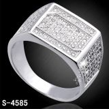 Monili d'argento di modo dell'anello 925 per l'uomo