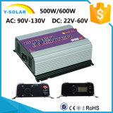 500With600W inverseur solaire Ys-600g-W-D-LCD de relation étroite de réseau d'énergie éolienne de l'affichage à cristaux liquides 46Hz-65Hz