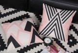 Cuscino blu dell'ammortizzatore del coperchio del cotone di Nordico di stile di colore rosa di tela di immagine
