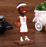 Het Hoofd van Bobble van de Speler van het Basketbal van de Hars van Whosale voor Verkoop