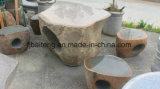자연적인 돌 정원 테이블 및 의자