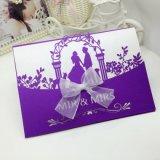 Cartão do convite do casamento do projeto da cavidade de Customzied da alta qualidade