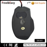 Мышь разыгрыша USB 7D кабеля с оплеткой черноты мягкого касания