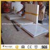 Mármore do material de construção/pedra brancos, telha de assoalho de mármore branca, lajes de mármore