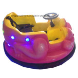 遊園地のためのガラス繊維のピンクのカエルのレースカー