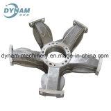 Carcaça de areia de alumínio fazendo à máquina do CNC da peça da carcaça da maquinaria