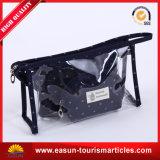 Custom Print Clear Vinyl Travel Cosmetic Bag