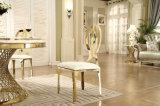 Стул банкета металла золота крышки кожи мебели случая венчания
