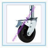 Sicheres haltbares sperrenfußrollen-Rad für Baugerüst